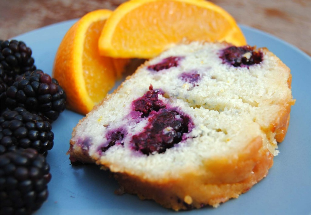 blackberry buttermilk cake slice