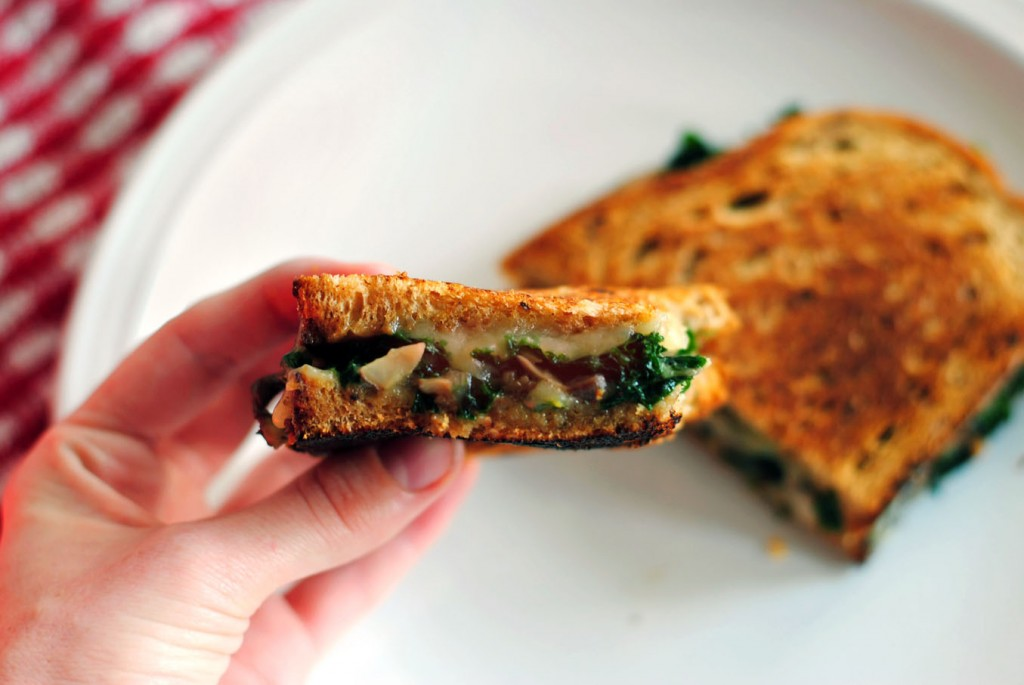 kale mushroom cheese