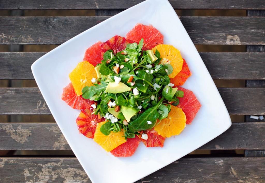 citrus salad top